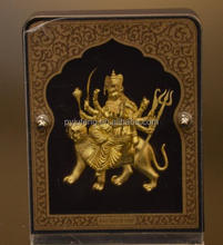 pure gold foil 3D home decor about durga with gift box