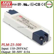 Meanwell constant current led power supply PLM-25-500