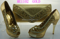 ME1102 new design dress shoes and matching bags Italian shoes matching bag set women shoes and bag with many color