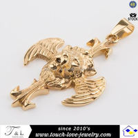 gold plated guardian angel pendant