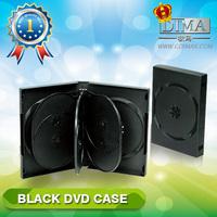 PP 27mm 7discs black DVD case with 3 trays,7discs dvd case