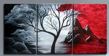 Group Abstract Tree Oil Painting