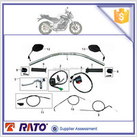 Motorbike rear view mirror, motorcycle brake cables, clutch cables and motorcycle handlebar switch for DEMAK DZM200 motorcycle