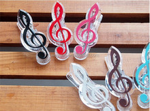 music clip stationery folder clip,musical note clips