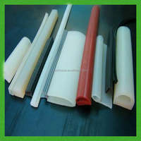 Silicone rubber shower door seal strip
