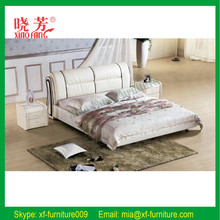 Modern bedroom furniture double bed designs pink faux leather bed