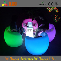 New !Led rechargeable colorful round Cafe Table for 4 person