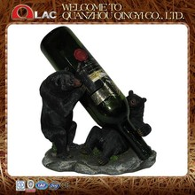 customized polyresin two black bears novelty animal alcohol liquor bottle holder