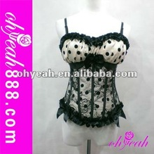 Newest lingerie blue xxxl sexy corset 2014