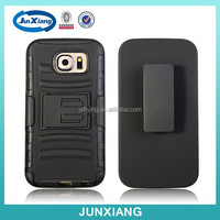 3 in 1 hybrid cell phone case rugged belt case for samsung galaxy s6
