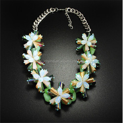 European And American Style Exaggerated Flower Crystal Necklaces