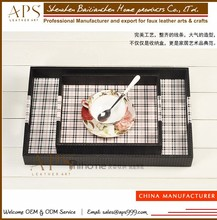Customizable New Popular High Quality PU leather Gongfu Tea Tray