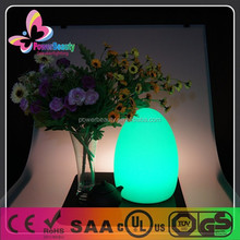 waterproof cute lighting led table lamp decoration flashing egg shape lamp