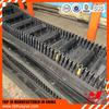 New design fashion low price raised edge conveyor belt rubber machine
