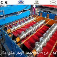 metal sheet roll press forming roof tile machine production line