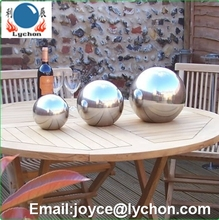 8cm mirror polished stainless steel hollow ball steel globe