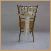 C208A wholesale wedding chair cover fancy lace chair sashes