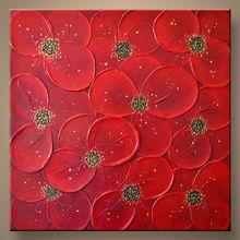 venta al por mayor hecho a mano la pared de imagen flor de arte de la lona