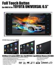 Full touch control panel auto radio car dvd Fit for toyota rav4 corolla vios hilux terios land cruiser avanza fortuner prado