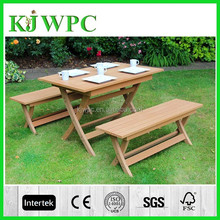 ourdoor wpc garden furniture X style wpc bench and wpc table