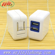 China Supplier Mobile Phone Dual USB Wall Charger for USA Use