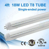 No glare frosted cover high brightness 1200mm 1620-1710lm LED tube for fluorecent lamp