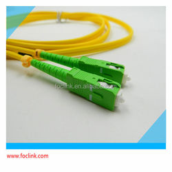 SC/APC Duplex Optical Fiber Patchcord, ceramic ferrule connector, 2.0/3.0 cable, reliable quality with competitive price