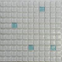 white bubble crystal glass mosaic floor tile- floor tile
