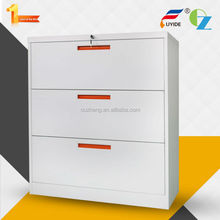Luoyang factory direct cold rolled steel office furniture 3 drawer lateral file cabinet