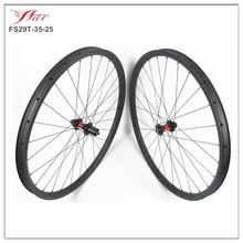 farsports full carbon mtb wheelset 29, 28/28H, UD matte, disc brake, 25mm depth 35mm width, 9mm 135mm O.LD