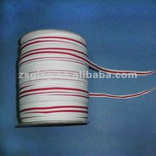 """1/2"""" inch jacquard nylon band with red and white stripe"""