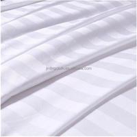 100 Cotton White Satin Stripe Fabric 173x120