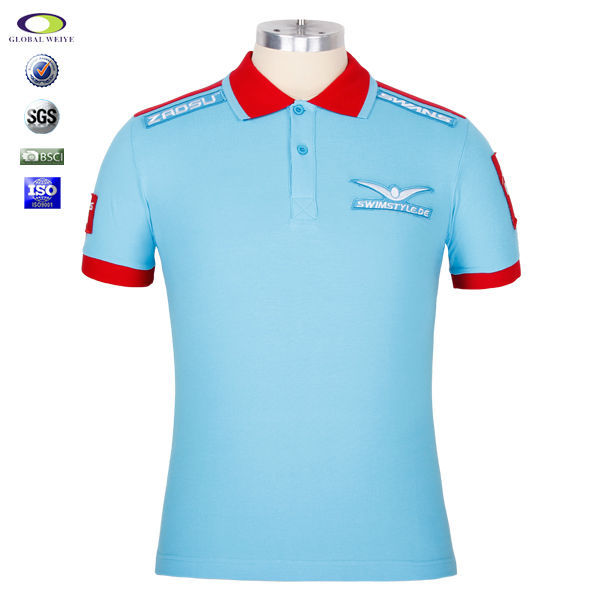 Custom polo t shirt with your company embroider logo view for Corporate polo shirts with logo