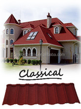 zinc aluminium layers coated roofing materials. durable and single color option roofing tiles