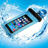TPU Smart phone waterproof bag for iphone 6 plus witn neck strap