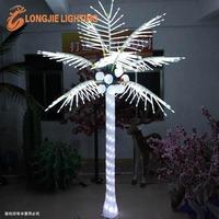10 leaves H: 3m led lighted white color coconut tree lights