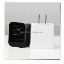 OEM Served dual usb home charger ,2.1A 2 usb ports travel adapter