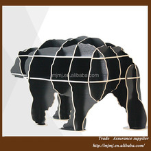 modern design wood small Polar Bear decorative tables