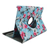 360 Degrees Rotating Stand leopard pu leather case for ipad mini with Automatic sleep and wake function