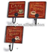 Coffee series picture hanging wall hooks,Over the door hanger hook