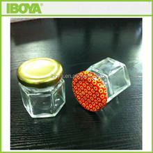 popular small honey glass jar with custom lug cap