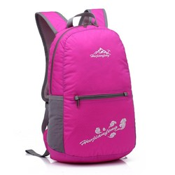 2016 made in China Promotional Nylon Folding Cheap Waterproof Backpack