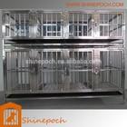 Personalizável modular de aço inoxidável dobrado gaiola do cão SED1-001S
