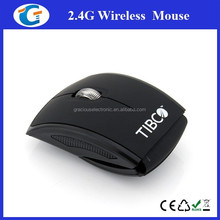 Promotion gift usb mini wireless optical arc mouse driver with 2.4g
