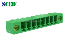 3.81mm pcb male connector mounting flange and pin for transformers