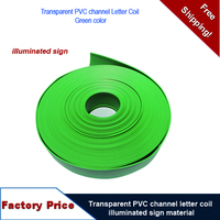 NOW 12% OFF 76mm Width Green Color Transparent PVC channel letter coil /illuminated sign material/Trim Cap Sign Material