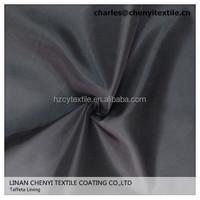 Polyester taffeta lining