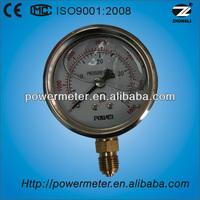 Stainless steel case liquid filled diamter 60mm wise pressure gauge