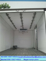 2 ton refrigerated box van truck aluminium refrigerated van body mini refrigerator truck for sale