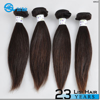 2015 Best Selling leading hair maufacturer Double Weft no shedding brazilian straight hair weave bundle